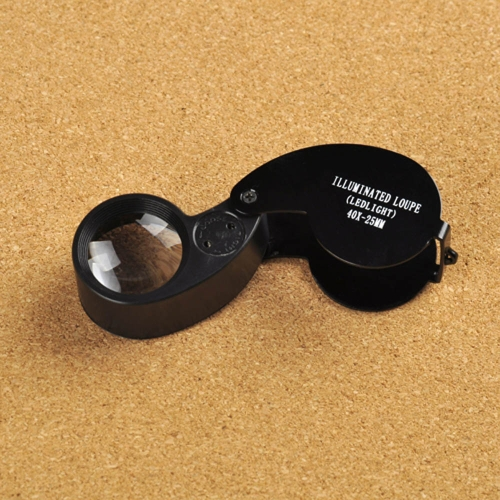 40X 25mm Glass Magnifying Magnifier Folding Jewelry Compact Pocket Loupe Led LightTest Equipment &amp; Tools<br>40X 25mm Glass Magnifying Magnifier Folding Jewelry Compact Pocket Loupe Led Light<br>