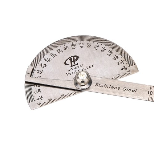 Stainless Steel Protractor Round Head Rotary Goniometer Angle Ruler Professional Measuring ToolTest Equipment &amp; Tools<br>Stainless Steel Protractor Round Head Rotary Goniometer Angle Ruler Professional Measuring Tool<br>