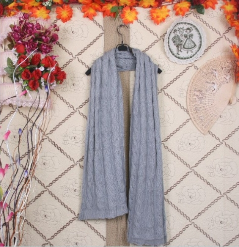 Korean Stylish Women Men Lady Scarf Knitted Long Warm Wrap Shawl Unisex GrayApparel &amp; Jewelry<br>Korean Stylish Women Men Lady Scarf Knitted Long Warm Wrap Shawl Unisex Gray<br>