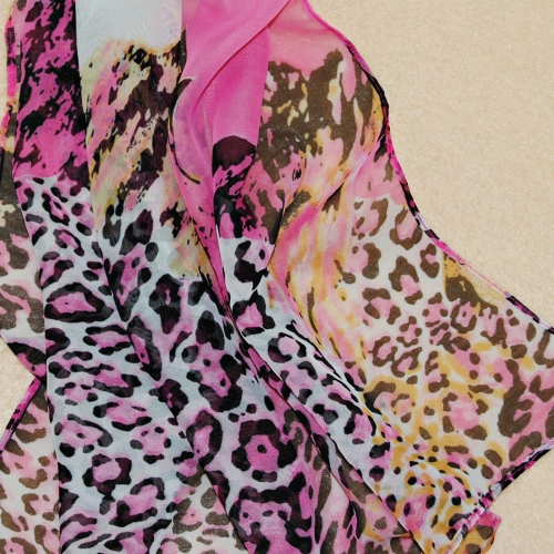 Fashion Women Chiffon Scarf Leopard Print Long Shawl Wrap Pashmina RoseApparel &amp; Jewelry<br>Fashion Women Chiffon Scarf Leopard Print Long Shawl Wrap Pashmina Rose<br>