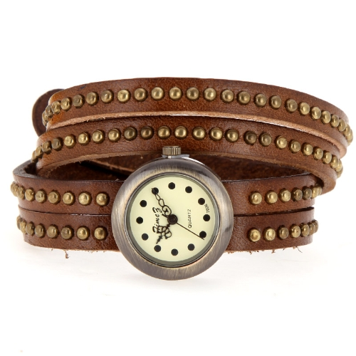 Womens Vintage Rivets Bracelet Wrist WatchApparel &amp; Jewelry<br>Womens Vintage Rivets Bracelet Wrist Watch<br>