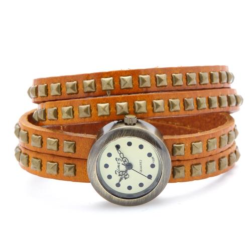 Womens Vintage Rivets Bracelet Wrist WatchApparel &amp; Jewelry<br>Womens Vintage Rivets Bracelet Wrist Watch<br>