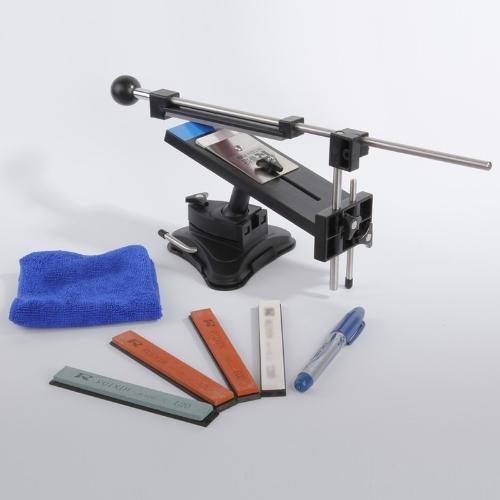 アップグレード バージョン固定角度シャープナー プロフェッショナル キッチン ナイフ研ぎ器キット システム 4 シャープ石