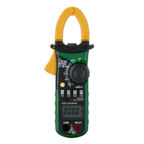 Mastech MS2108A Digital Clamp Multimeter Frequency Max./Min.Value Measurement Holding Lighting Bulb Carrying Bag