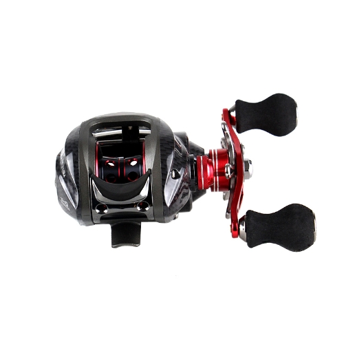 12BB 6.3:1 Left Hand Bait Casting Fishing Reel 11Ball Bearings + One-way Clutch High Speed RedSports &amp; Outdoor<br>12BB 6.3:1 Left Hand Bait Casting Fishing Reel 11Ball Bearings + One-way Clutch High Speed Red<br>