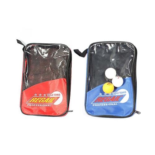 Набор Настольный теннис 2 ракетки + 3 мяча + 1 ракетке сумка длинные ручки дрожания рук пинг понг весло синий