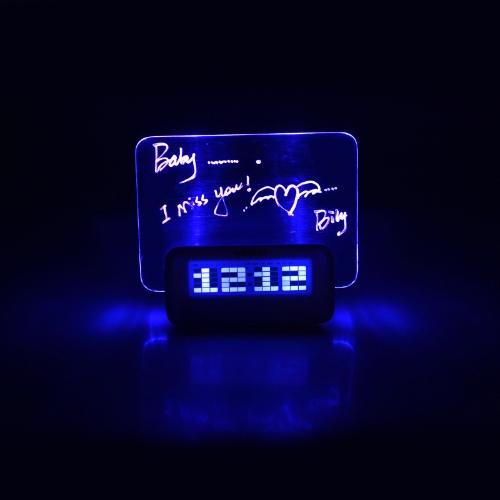 Digital Message Board Clock Alarm Temperature Calendar Timer Blue LightHome &amp; Garden<br>Digital Message Board Clock Alarm Temperature Calendar Timer Blue Light<br>