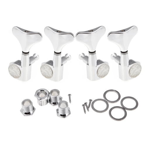 4 Chrome Sealed Tuning Pegs Tuners Machine Heads for Bass Guitar 2L+2RToys &amp; Hobbies<br>4 Chrome Sealed Tuning Pegs Tuners Machine Heads for Bass Guitar 2L+2R<br>