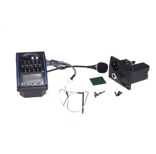 4-Band EQ Equalizer Acoustic Guitar Preamp Piezo Pickup LCD Tuner with MicToys &amp; Hobbies<br>4-Band EQ Equalizer Acoustic Guitar Preamp Piezo Pickup LCD Tuner with Mic<br>