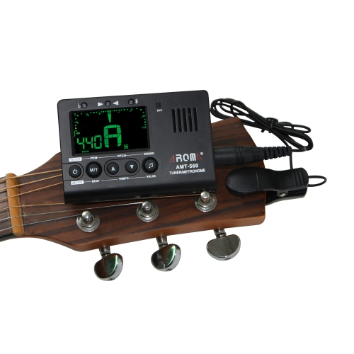 Aroma AMT-560 Electric Tuner &amp; Metronome Built-in Mic with Pickup Cable 6.3mm for Guitar Chromatic Bass Violin Ukulele Universal PToys &amp; Hobbies<br>Aroma AMT-560 Electric Tuner &amp; Metronome Built-in Mic with Pickup Cable 6.3mm for Guitar Chromatic Bass Violin Ukulele Universal P<br>