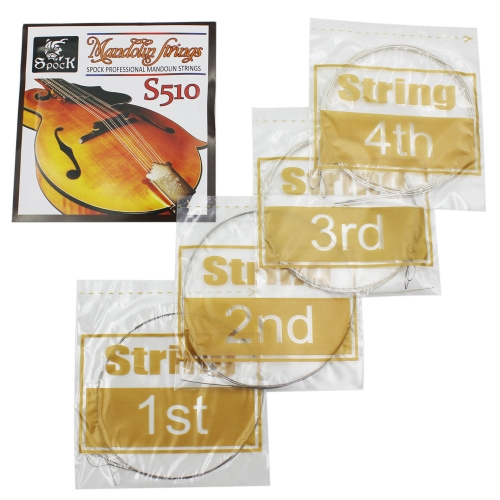 Spock S510 4pcs Mandolin String Stainless Steel Exquisite Stringed Musical InstrumentToys &amp; Hobbies<br>Spock S510 4pcs Mandolin String Stainless Steel Exquisite Stringed Musical Instrument<br>