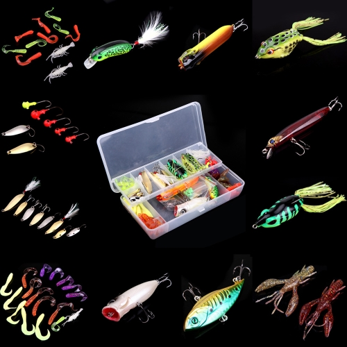 105Pcs Artificial Fishing Lure Set Hard Soft Bait Minnow Spoon Two-layer Fishing Tackle BoxSports &amp; Outdoor<br>105Pcs Artificial Fishing Lure Set Hard Soft Bait Minnow Spoon Two-layer Fishing Tackle Box<br>
