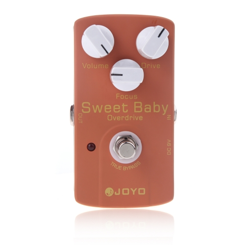 Joyo JF-36 Sweet Baby Electric Guitar Effect Pedal with Low Gain Overdrive Effect &amp; Focus KnobToys &amp; Hobbies<br>Joyo JF-36 Sweet Baby Electric Guitar Effect Pedal with Low Gain Overdrive Effect &amp; Focus Knob<br>