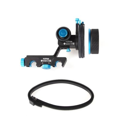 Fotga aggiornamento DP500IIS Follow Focus rapido Pump inumidire A / B fermata duro con ingranaggio anello cintura per Canon 5DII III 7D Nikon D90 DSLR di Panasonic GH1