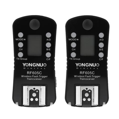YONGNUO RF605C ワイヤレス フラッシュのトリガー ・ シャッターは、キヤノンのカメラ用 16 チャンネルをリリースします。