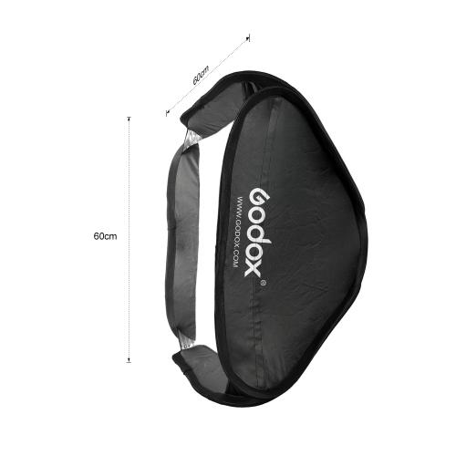 Godox 60 * 60cm / 24 * 24 Softbox Diffuser with  S-type Bracket Bowens Holder for Speedlite Flash LightCameras &amp; Photo Accessories<br>Godox 60 * 60cm / 24 * 24 Softbox Diffuser with  S-type Bracket Bowens Holder for Speedlite Flash Light<br>