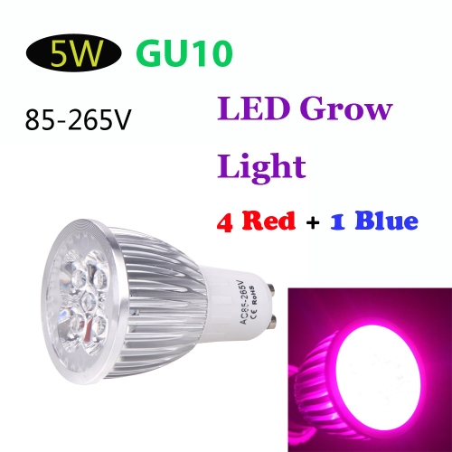 GU10 5W LED Plant Grow Light Hydroponic Lamp Bulb Energy Saving 4 Red 1 Blue for Indoor Flower Plants Growth Vegetable GreenhouseHome &amp; Garden<br>GU10 5W LED Plant Grow Light Hydroponic Lamp Bulb Energy Saving 4 Red 1 Blue for Indoor Flower Plants Growth Vegetable Greenhouse<br>