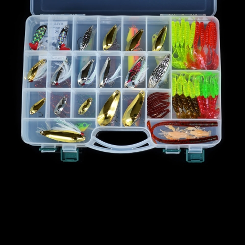 168Pcs Artificial Fishing Lure Set Hard Soft Bait Minnow Spoon Two-layer Fishing Tackle BoxSports &amp; Outdoor<br>168Pcs Artificial Fishing Lure Set Hard Soft Bait Minnow Spoon Two-layer Fishing Tackle Box<br>