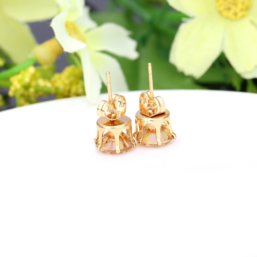 1Pair Clear Crystal Zircon 18K Gold Plated Crown Ear Stud Earring Jewelry Gift for Women LadyApparel &amp; Jewelry<br>1Pair Clear Crystal Zircon 18K Gold Plated Crown Ear Stud Earring Jewelry Gift for Women Lady<br>