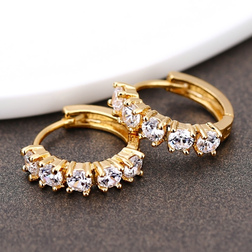 1Pair Clear Crystal Zircon 18K Gold Plated Cross Drop Dangle Pendant Hoop Ear Earrings Jewelry Gift for Women LadyApparel &amp; Jewelry<br>1Pair Clear Crystal Zircon 18K Gold Plated Cross Drop Dangle Pendant Hoop Ear Earrings Jewelry Gift for Women Lady<br>