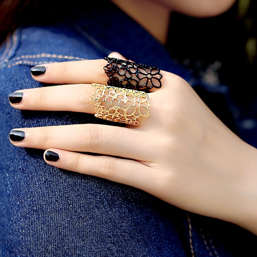 Fashion Design Bohemian Style Golden Hollow Out Flower RingApparel &amp; Jewelry<br>Fashion Design Bohemian Style Golden Hollow Out Flower Ring<br>