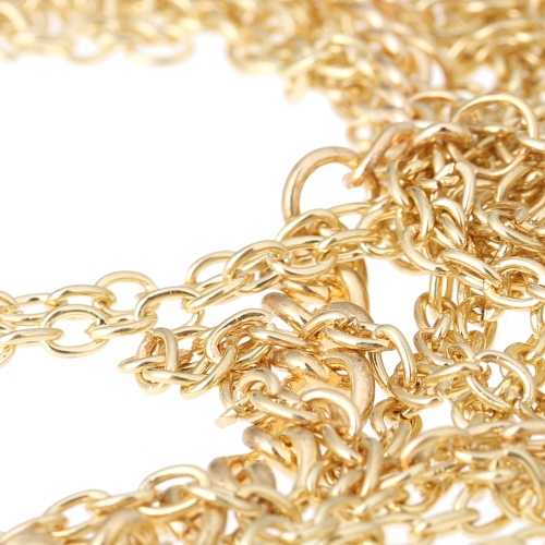 Sexy Laday Fashion Multi Layers Gold Body Belly Waist Chain Link Chic Waves Long NecklaceApparel &amp; Jewelry<br>Sexy Laday Fashion Multi Layers Gold Body Belly Waist Chain Link Chic Waves Long Necklace<br>