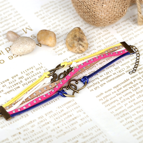 Fashion Vintage Retro Punk Rock Multilayer Leather Braided Pendants Bracelet Bangle Jewelry AccessoryApparel &amp; Jewelry<br>Fashion Vintage Retro Punk Rock Multilayer Leather Braided Pendants Bracelet Bangle Jewelry Accessory<br>