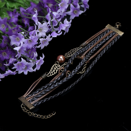 Fashion Vintage Jewelry Accessory Multilayer Braided Pendants Bracelet BangleApparel &amp; Jewelry<br>Fashion Vintage Jewelry Accessory Multilayer Braided Pendants Bracelet Bangle<br>
