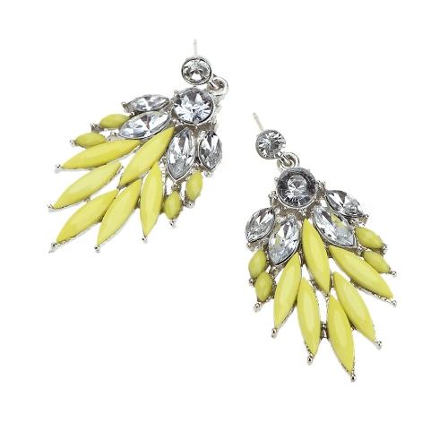 1 Pair Fashion Elegant Lady Attractive Resin Rhinestone Earrings Ear Stud Jewelry AccessoryApparel &amp; Jewelry<br>1 Pair Fashion Elegant Lady Attractive Resin Rhinestone Earrings Ear Stud Jewelry Accessory<br>