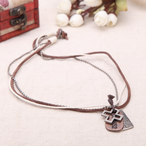 Fashion Punk Vintage Retro Cross Rectangle Pendants Leather Collar Necklace Jewelry AccessoryApparel &amp; Jewelry<br>Fashion Punk Vintage Retro Cross Rectangle Pendants Leather Collar Necklace Jewelry Accessory<br>