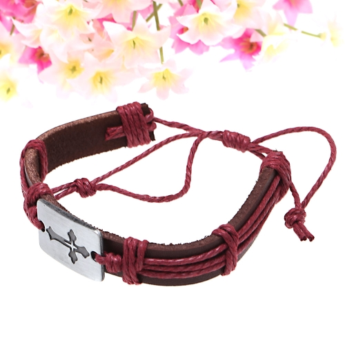 Alloy Leather Bracelet Men Women Fashion BangleApparel &amp; Jewelry<br>Alloy Leather Bracelet Men Women Fashion Bangle<br>