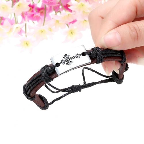 Alliage en cuir Bracelet hommes femmes mode bracelet