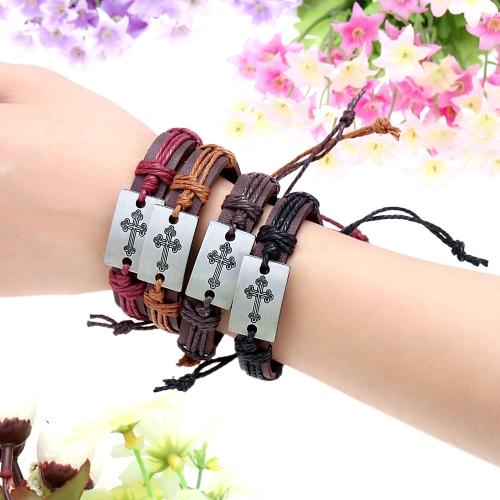 Alloy Leather Bracelet Men Women Fashion BangleApparel &amp; Jewelry<br>Alloy Leather Bracelet Men Women Fashion Bangle<br>