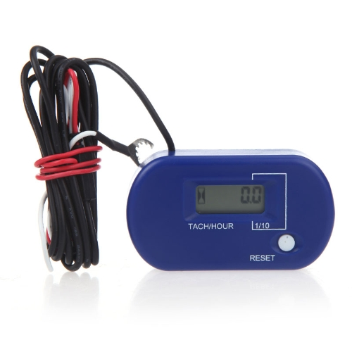 Digital Hour/Tach Meter Gauge Tachometer Resettable LCD 99999h / 60000RPM BlackCar Accessories<br>Digital Hour/Tach Meter Gauge Tachometer Resettable LCD 99999h / 60000RPM Black<br>