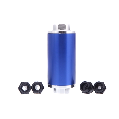 Universal Fuel Filter with 2pcs AN6/AN8/AN10 Adaptor Fittings Total 6pcs Black Fittings  BlueCar Accessories<br>Universal Fuel Filter with 2pcs AN6/AN8/AN10 Adaptor Fittings Total 6pcs Black Fittings  Blue<br>