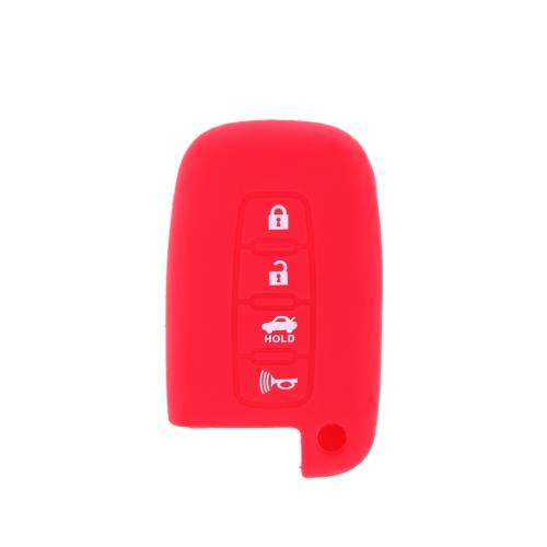 Remote Silicone Shell Case Cover for Hyundai 4 Button Smart Key ProtectiveCar Accessories<br>Remote Silicone Shell Case Cover for Hyundai 4 Button Smart Key Protective<br>
