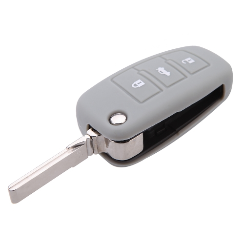 Silicone Skin Car Remote Fob Shell Key Holder Case Cover for Audi A6L Q7 TT R8 A3 A4L(2009) 3 ButtonsCar Accessories<br>Silicone Skin Car Remote Fob Shell Key Holder Case Cover for Audi A6L Q7 TT R8 A3 A4L(2009) 3 Buttons<br>
