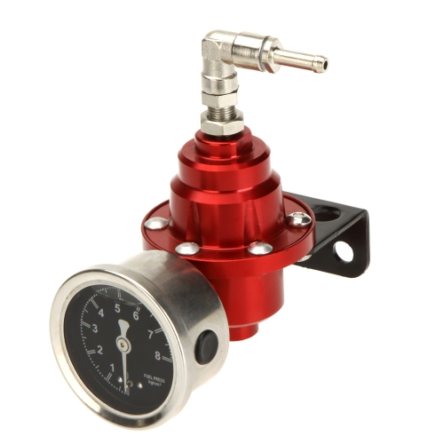 High Performance Adjustable Fuel Pressure Regulator with Filled Oil Gauge for Car AutoCar Accessories<br>High Performance Adjustable Fuel Pressure Regulator with Filled Oil Gauge for Car Auto<br>