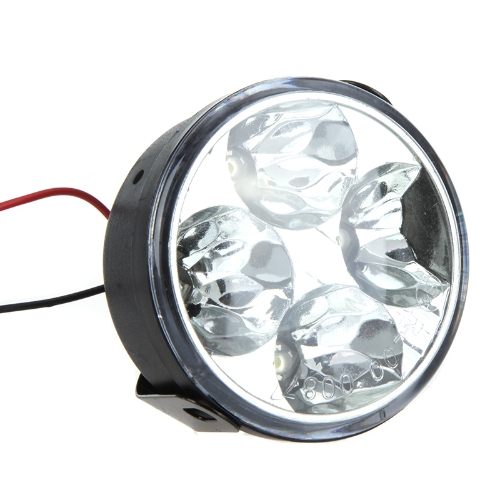 Round LED Daytime Running Light 4 LED WhiteCar Accessories<br>Round LED Daytime Running Light 4 LED White<br>