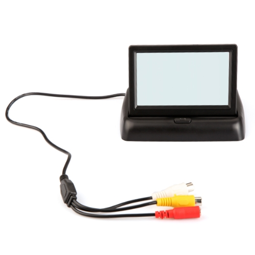 4.3 Foldable TFT Color LCD Car Reverse Rearview Security Monitor for Camera DVD VCRCar Accessories<br>4.3 Foldable TFT Color LCD Car Reverse Rearview Security Monitor for Camera DVD VCR<br>