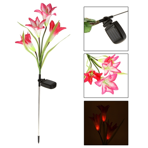 Outdoor Water Resistant Landscape Light Powerfrugal Solar Power Ni-MH Battery Color Changing 4 LED Lily Flower Lamps for Garden HoHome &amp; Garden<br>Outdoor Water Resistant Landscape Light Powerfrugal Solar Power Ni-MH Battery Color Changing 4 LED Lily Flower Lamps for Garden Ho<br>