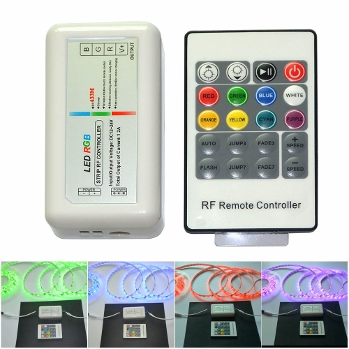 RF Wirless Remote 20 Keys 12-24V 3 Channels LED Controller for RGB LED  Strips LightHome &amp; Garden<br>RF Wirless Remote 20 Keys 12-24V 3 Channels LED Controller for RGB LED  Strips Light<br>