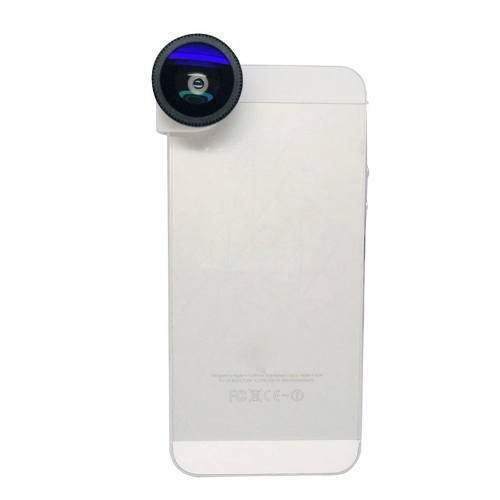3 in 1 Phone Photo Camera Lens 180° Fisheye Macro 0.67X Wide Angle for iPhone 5 5S BlackCellphone &amp; Accessories<br>3 in 1 Phone Photo Camera Lens 180° Fisheye Macro 0.67X Wide Angle for iPhone 5 5S Black<br>