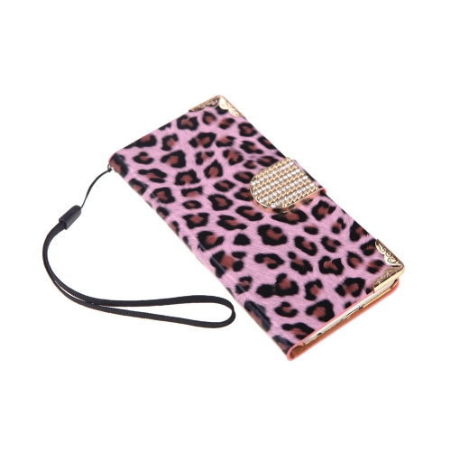 Fashionable Wallet Leopard Case Flip Leather Cover with Card Holder/Strap for Apple iPhone 6 PinkCellphone &amp; Accessories<br>Fashionable Wallet Leopard Case Flip Leather Cover with Card Holder/Strap for Apple iPhone 6 Pink<br>
