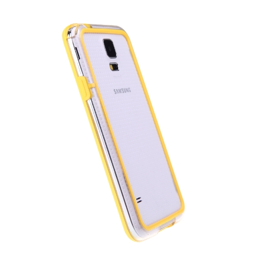 Colorful TPU+PC Bumper Frame Case Cover for Samsung Galaxy S5 i9600 YellowCellphone &amp; Accessories<br>Colorful TPU+PC Bumper Frame Case Cover for Samsung Galaxy S5 i9600 Yellow<br>