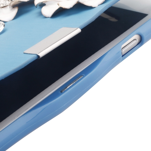 Magnetic Flip PU Leather Hard Skin Ultra Slim Pouch Wallet Case Cover Bling Diamond Rhinestone Crystal for Apple iPhone 6 BlueCellphone &amp; Accessories<br>Magnetic Flip PU Leather Hard Skin Ultra Slim Pouch Wallet Case Cover Bling Diamond Rhinestone Crystal for Apple iPhone 6 Blue<br>