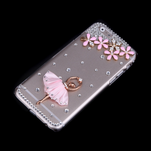 Luxury Clear Transparent Crystal Bling Rhinestone Diamond Flower Ballet Girl Case Hard Back Cover Protective Shell for Apple iPhonCellphone &amp; Accessories<br>Luxury Clear Transparent Crystal Bling Rhinestone Diamond Flower Ballet Girl Case Hard Back Cover Protective Shell for Apple iPhon<br>