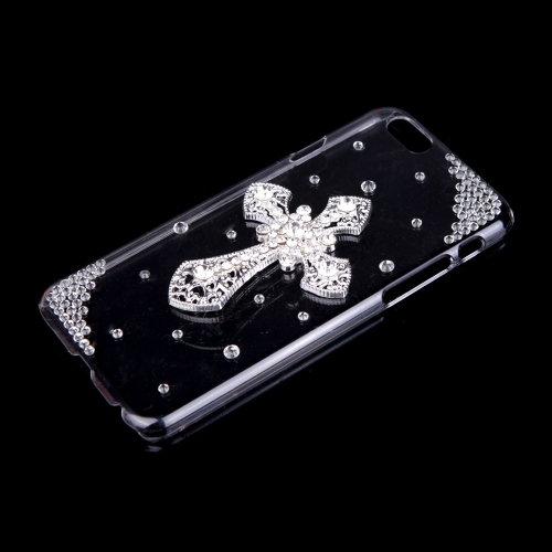 Luxury Clear Transparent Crystal Bling Rhinestone Diamond Cross Case Hard Back Cover Protective Shell for Apple iPhone 6Cellphone &amp; Accessories<br>Luxury Clear Transparent Crystal Bling Rhinestone Diamond Cross Case Hard Back Cover Protective Shell for Apple iPhone 6<br>