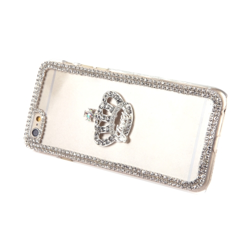 Luxury Clear Transparent Crystal Circle Bling Rhinestone Diamond Crown Case Hard Back Cover Protective Shell for Apple iPhone 6Cellphone &amp; Accessories<br>Luxury Clear Transparent Crystal Circle Bling Rhinestone Diamond Crown Case Hard Back Cover Protective Shell for Apple iPhone 6<br>
