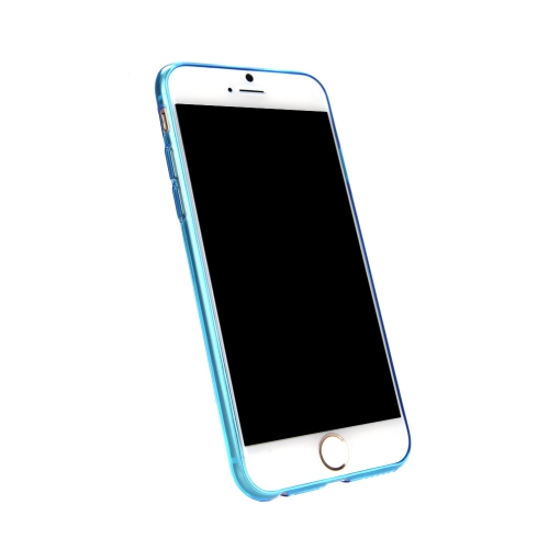 Ultra Thin TPU Transparent Phone Protective Case Back Cover for Apple iPhone 6 BlueCellphone &amp; Accessories<br>Ultra Thin TPU Transparent Phone Protective Case Back Cover for Apple iPhone 6 Blue<br>
